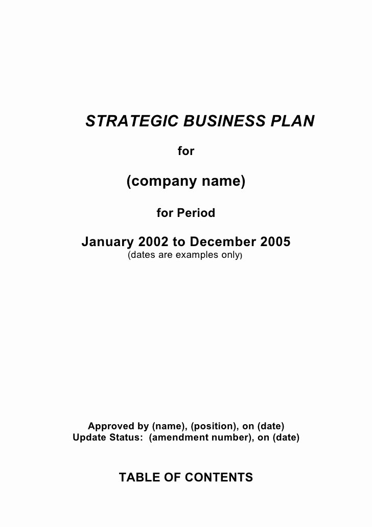 Growthink Business Plan Template Inspirational 5 Prehensive Strategic Business Plan Template