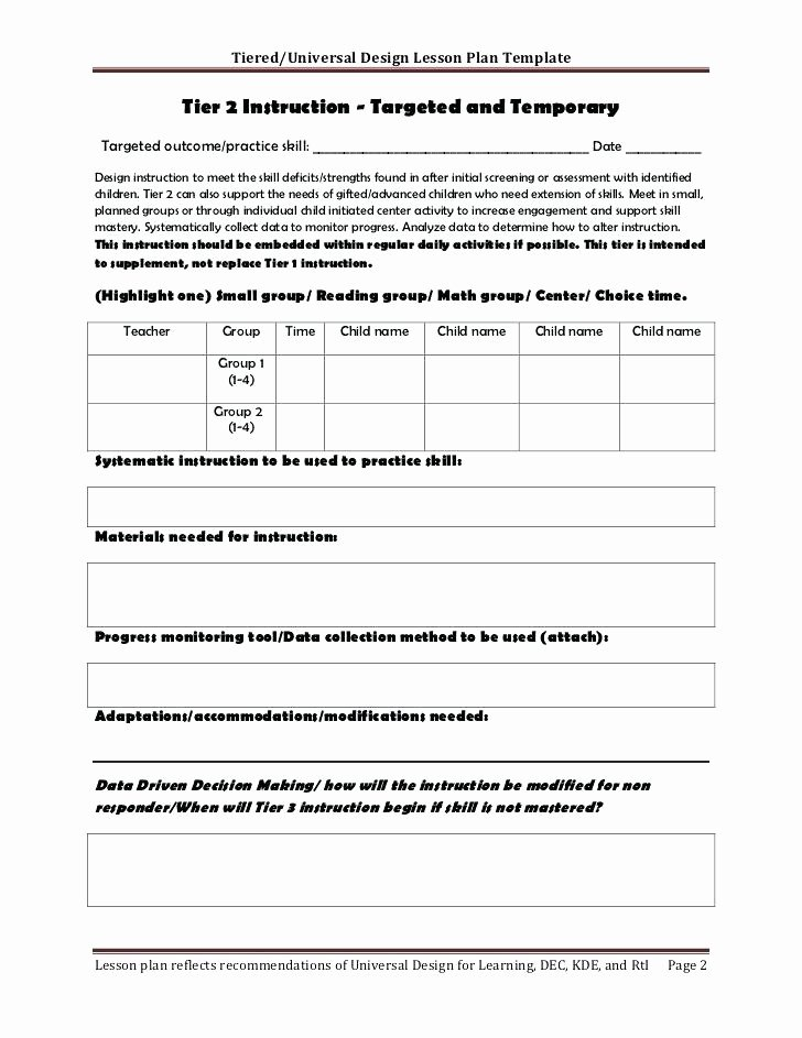 Guided Math Lesson Plan Template Awesome Group Lesson Plan Template