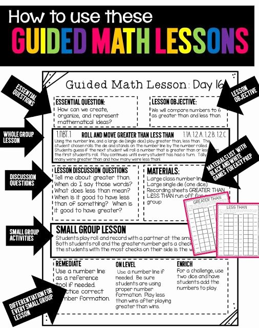 Guided Math Lesson Plan Template Elegant 176 Best Guided Math Images On Pinterest
