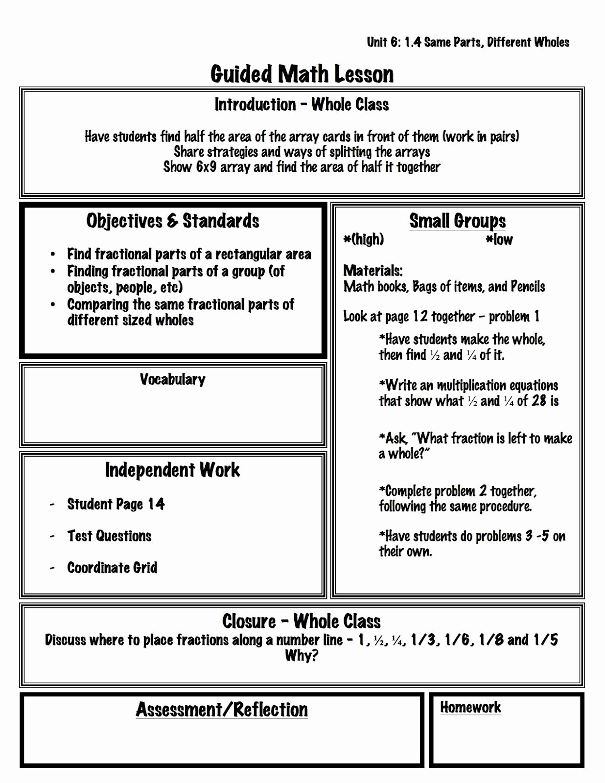 Guided Math Lesson Plan Template Lovely 2 organized Apples Classroom solutions for Grades 3 5