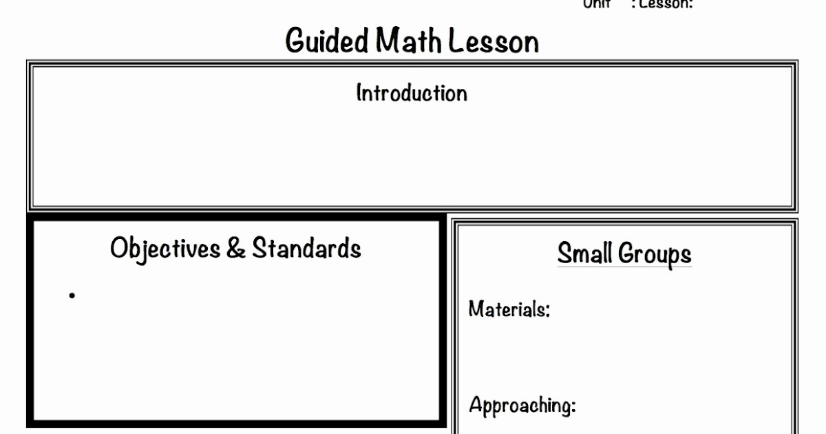 Guided Math Lesson Plan Template New 2 organized Apples Classroom solutions for Grades 3 5
