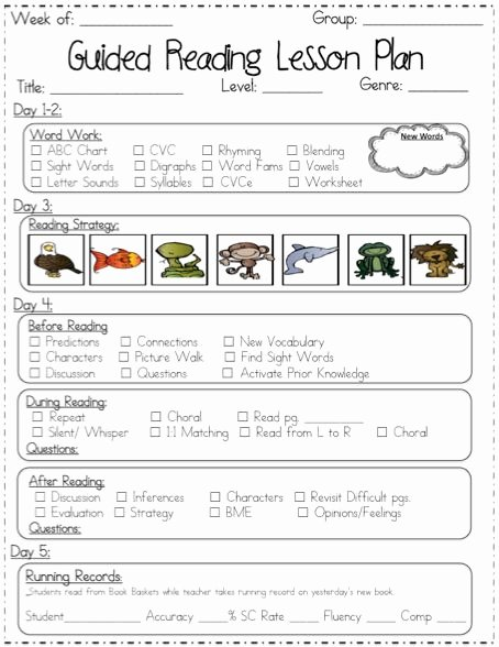Guided Reading Lesson Plan Template New D Reading Lessons for First Grade 1000 Images About