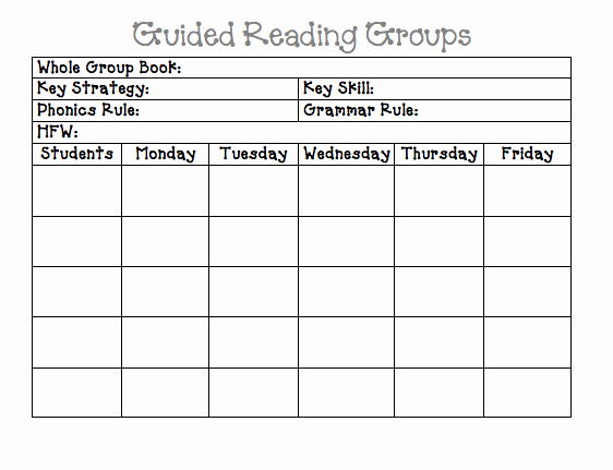 Guided Reading Lesson Plan Template New Guided Reading Lesson Plan Template