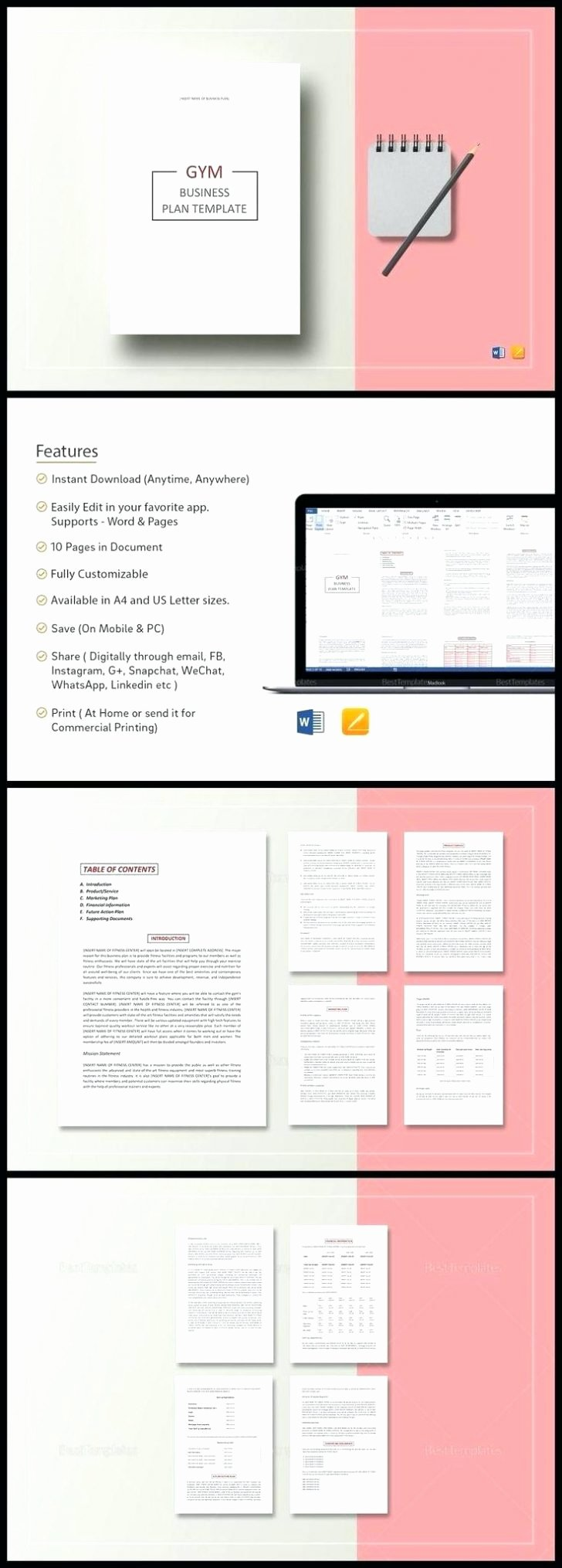 Gym Business Plan Template Best Of Inspirational Fitness Business Plan Template Kharazmii