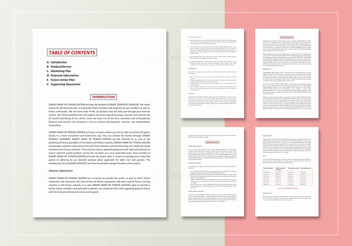 Gym Business Plan Template Fresh Gym Business Plan Template In Word Google Docs Apple Pages