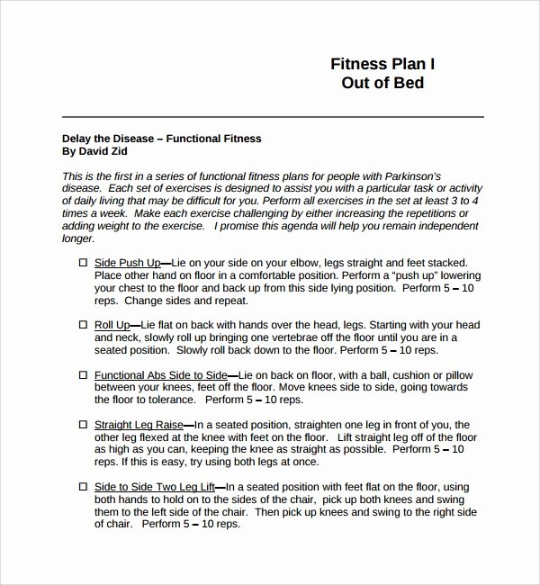Gym Business Plan Template Inspirational 10 Fitness Plan Templates