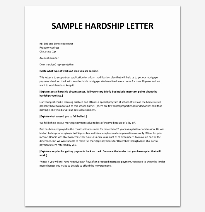 Hardship Letter Template for Loan Modification Request Lovely Hardship Letter Template 10 for Word Pdf format