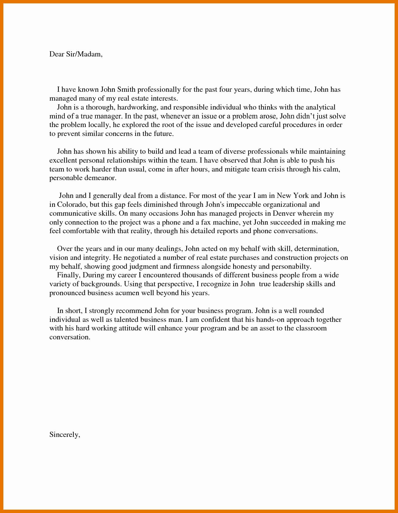 Harvard Letter Of Recommendation Beautiful 5 6 Mba Letter Of Re Mendation Sample