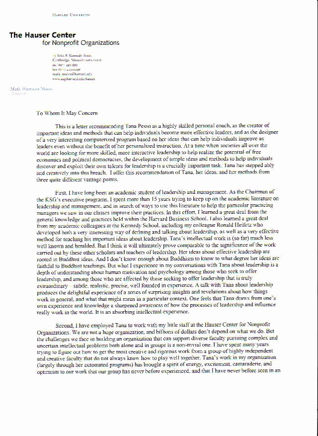 Harvard Letter Of Recommendation Best Of Harvard Professor & Faculty Chair
