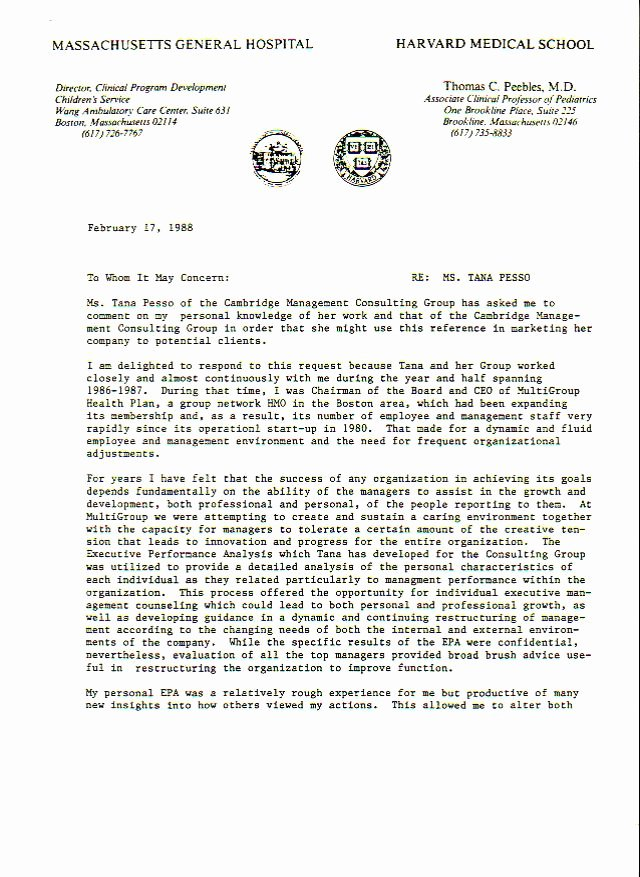 Harvard Letter Of Recommendation Best Of Tana Pesso