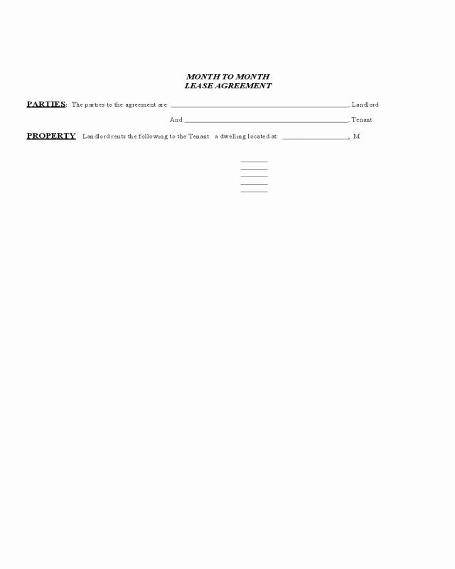 Hawaii Rental Agreement Fillable Elegant 2019 Month to Month Rental Agreement form Fillable
