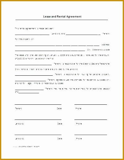 Hawaii Rental Agreement Fillable Elegant 5 Standard form Rental Agreement