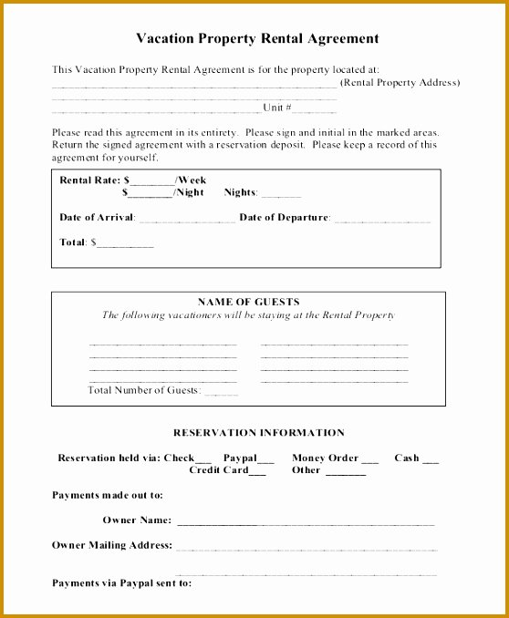 Hawaii Rental Agreement Fillable Luxury 5 Standard form Rental Agreement
