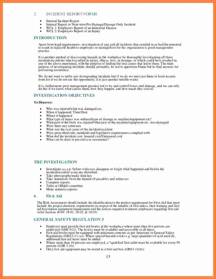 Health and Safety Plan Template Awesome 6 Monthly Health and Safety Report Template