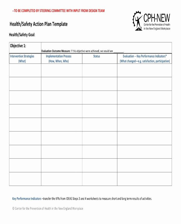 Health and Safety Plan Template New 12 Health and Safety Action Plan Templates Pdf Google