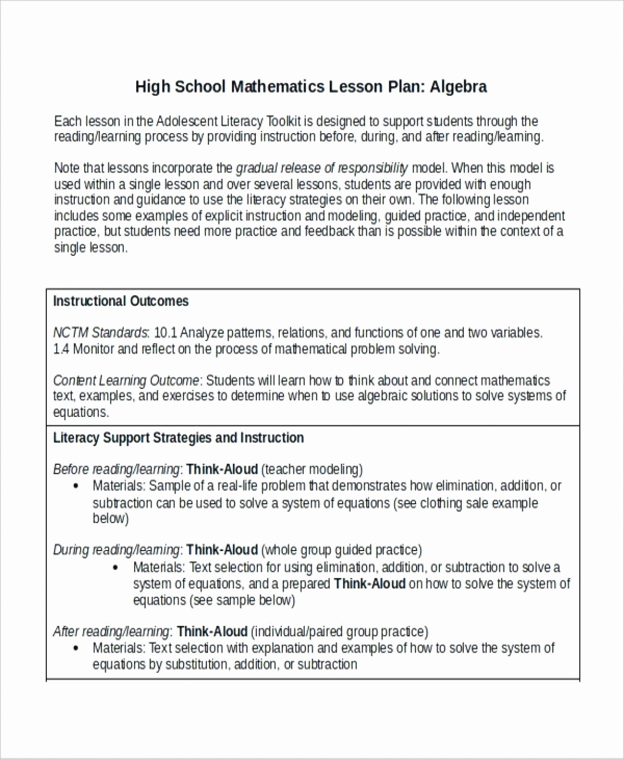 High School Lesson Plan Template Awesome High School Algebra Lesson Plans – Aplicacionesblackberry