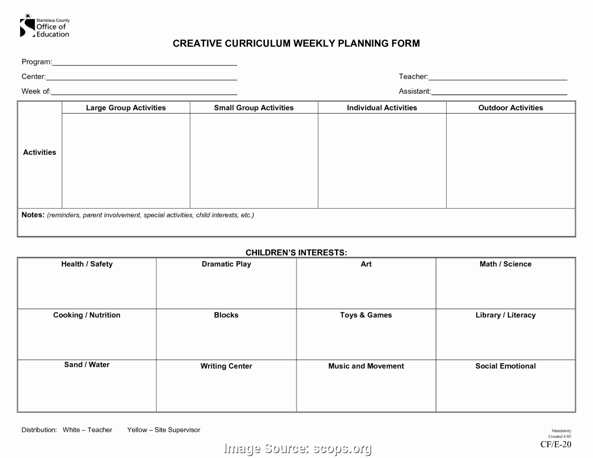 High Scope Lesson Plan Template Beautiful Fresh Creative Curriculum assessment forms High Scope