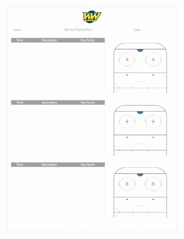 Hockey Practice Plan Template Best Of Baseball Practice Plan Blank Template Nice Volleyball