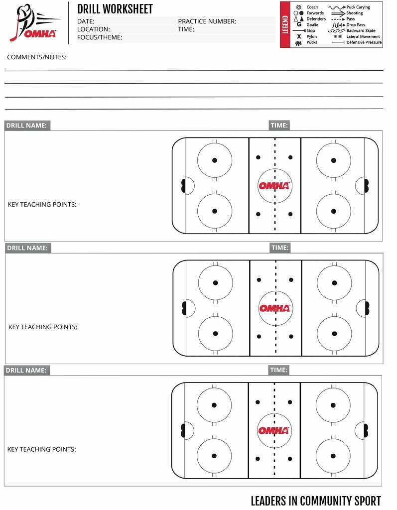 Hockey Practice Plan Template Fresh Omha Practice Drill Sheets