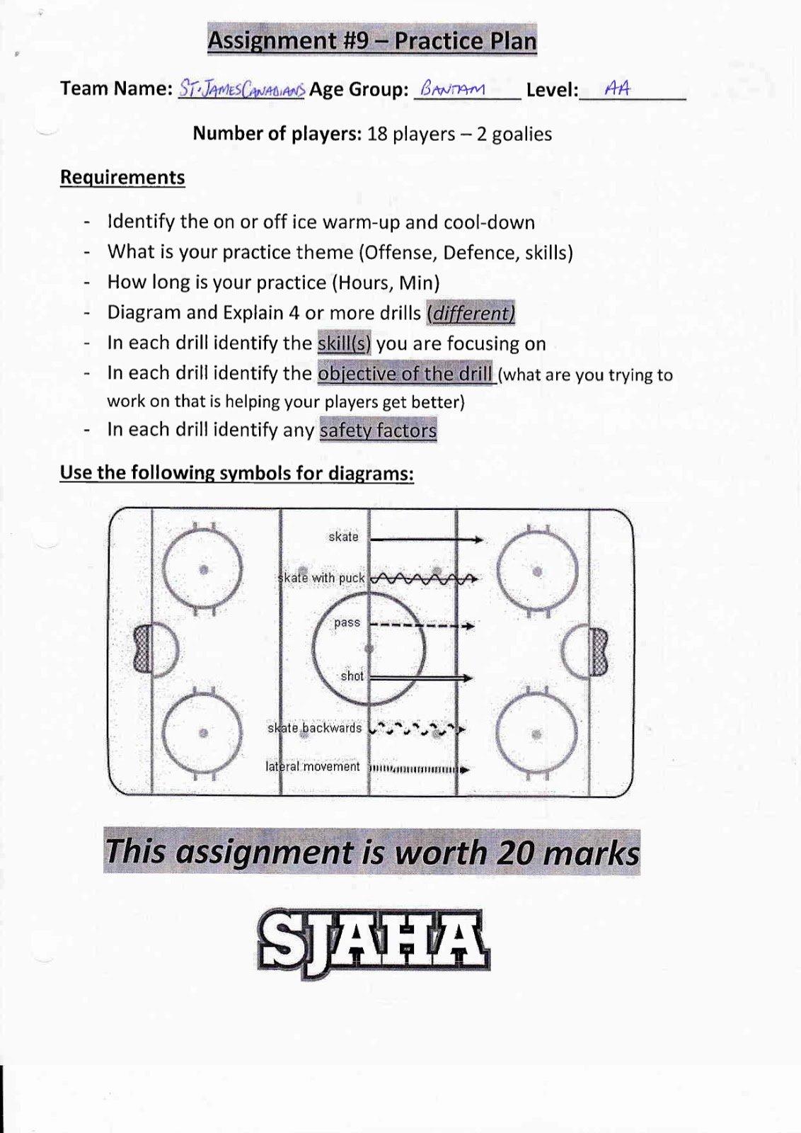 Hockey Practice Plan Template Fresh St James assiniboia Hockey Academy Grade 11