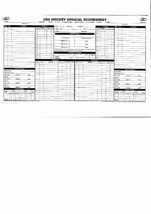 Hockey Practice Plan Template Lovely Usa Hockey Score Sheet Printable Pdf
