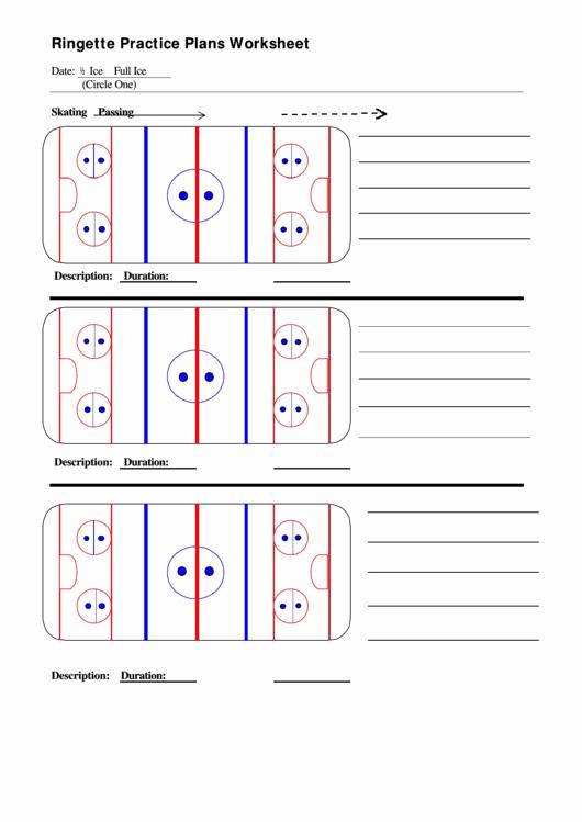 Hockey Practice Plan Template Luxury Rin Te Practice Plans Worksheet Printable Pdf