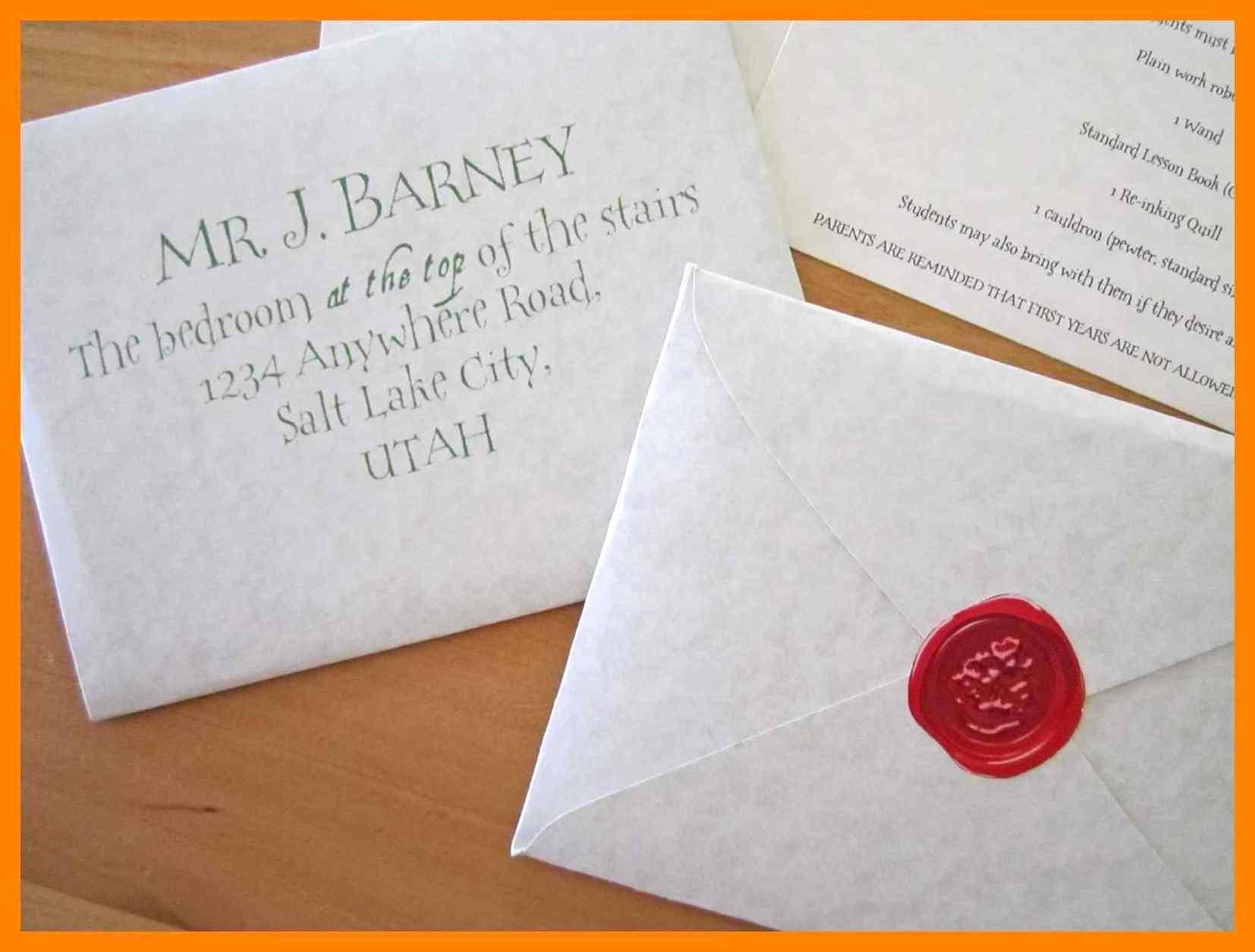Hogwarts Envelope Printable Awesome Hogwarts Acceptance Letter Envelope Template Printable