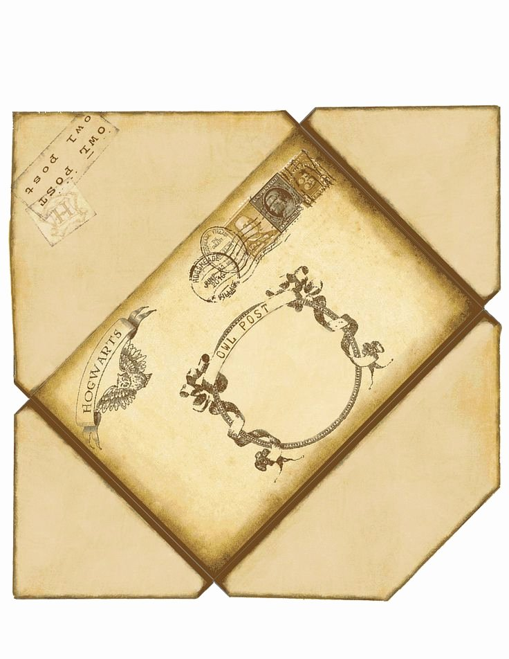 Hogwarts Envelope Printable Beautiful Harry Potter Envelope if Printed On 8 1 2 X 11 This Will
