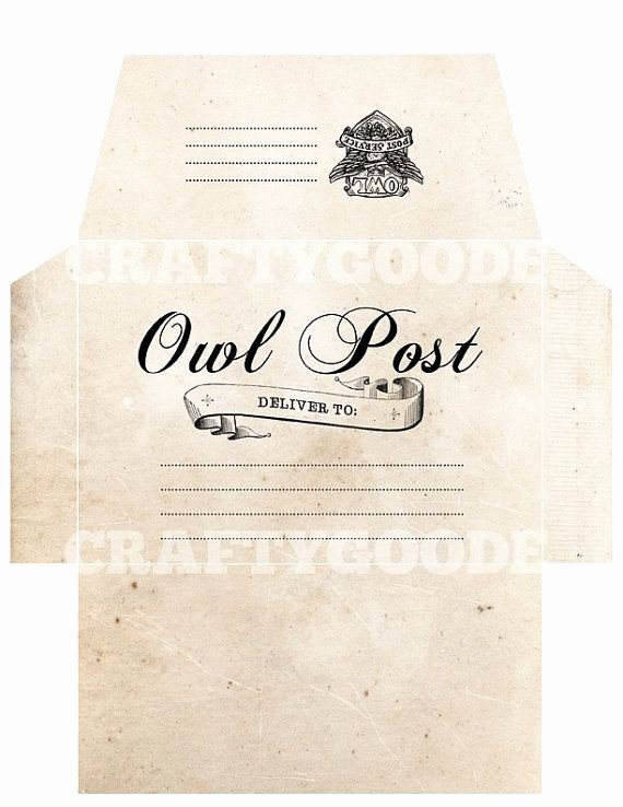 Hogwarts Envelope Printable Elegant 19 Best Images About Owl Post & Gringotts On Pinterest