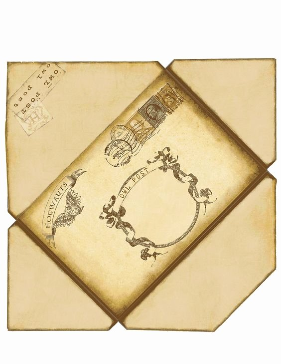 Hogwarts Envelope Printable Lovely Harry Potter Envelope if Printed On 8 1 2 X 11 This Will