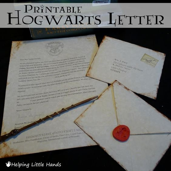 Hogwarts Envelope Printable Lovely Printable Hogwarts Acceptance Letters or Harry Potter