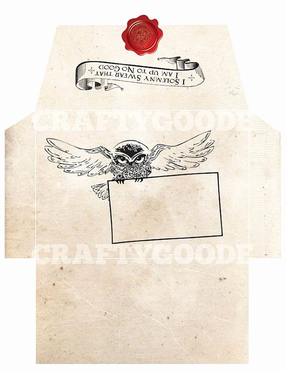 Hogwarts Envelope Printable Luxury Harry Potter themed Envelope Diy Printable by Craftygoode