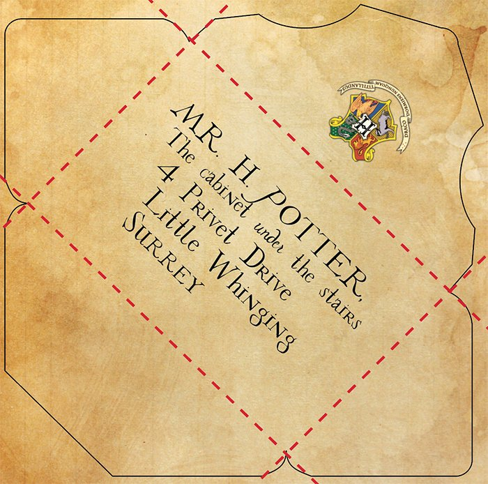 Hogwarts Envelope Printable New Make Your Own Free Printable and Customizable Hogwarts Letter