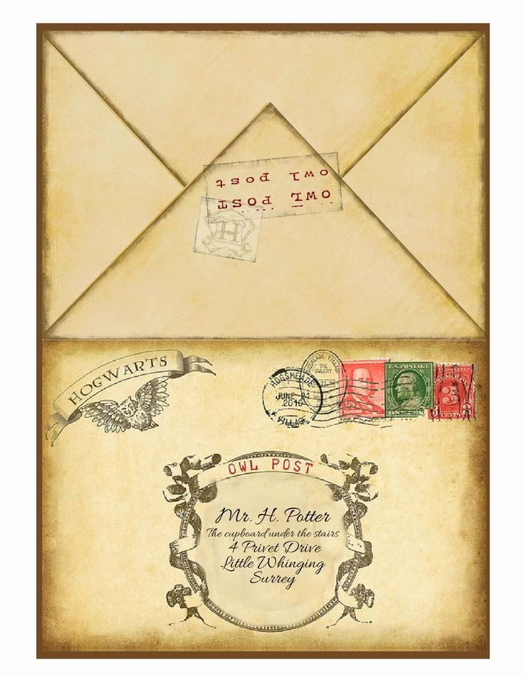 Hogwarts Envelope Printable New Well All Of My Planning and Designing Printing Cutting Etc