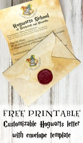 Hogwarts Envelope Printable Unique Make Your Own Free Printable and Customizable Hogwarts Letter