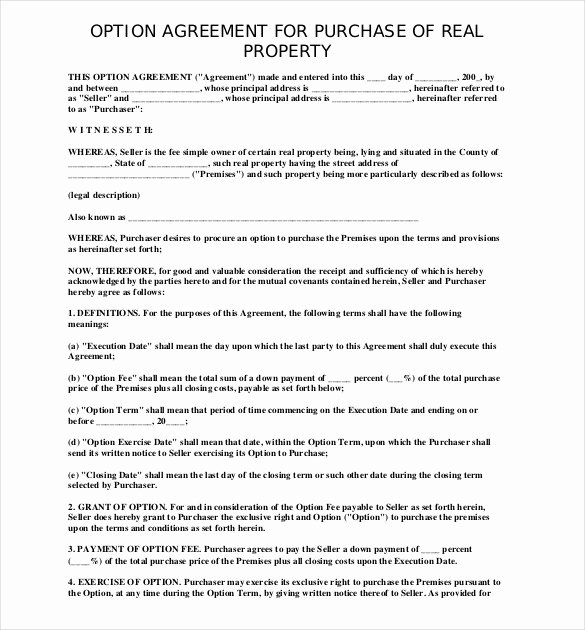 Home Buyout Agreement Awesome 10 Purchase Agreement Templates