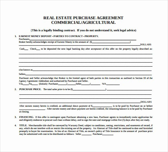 sample home purchase agreement