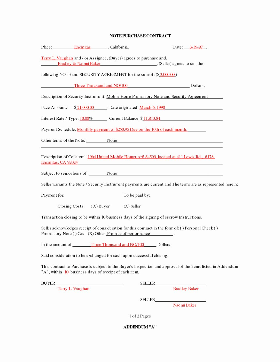 Home Buyout Agreement Beautiful Mobile Home Purchase Agreement