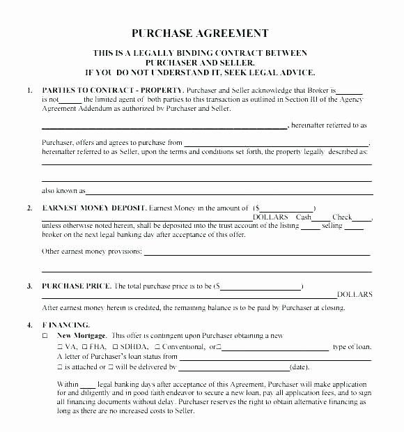 Home Buyout Agreement Fresh Property Contract Templates