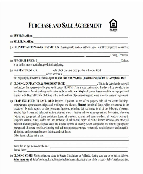 Home Buyout Agreement Inspirational 10 House Sales Contract Samples & Templates In Pdf