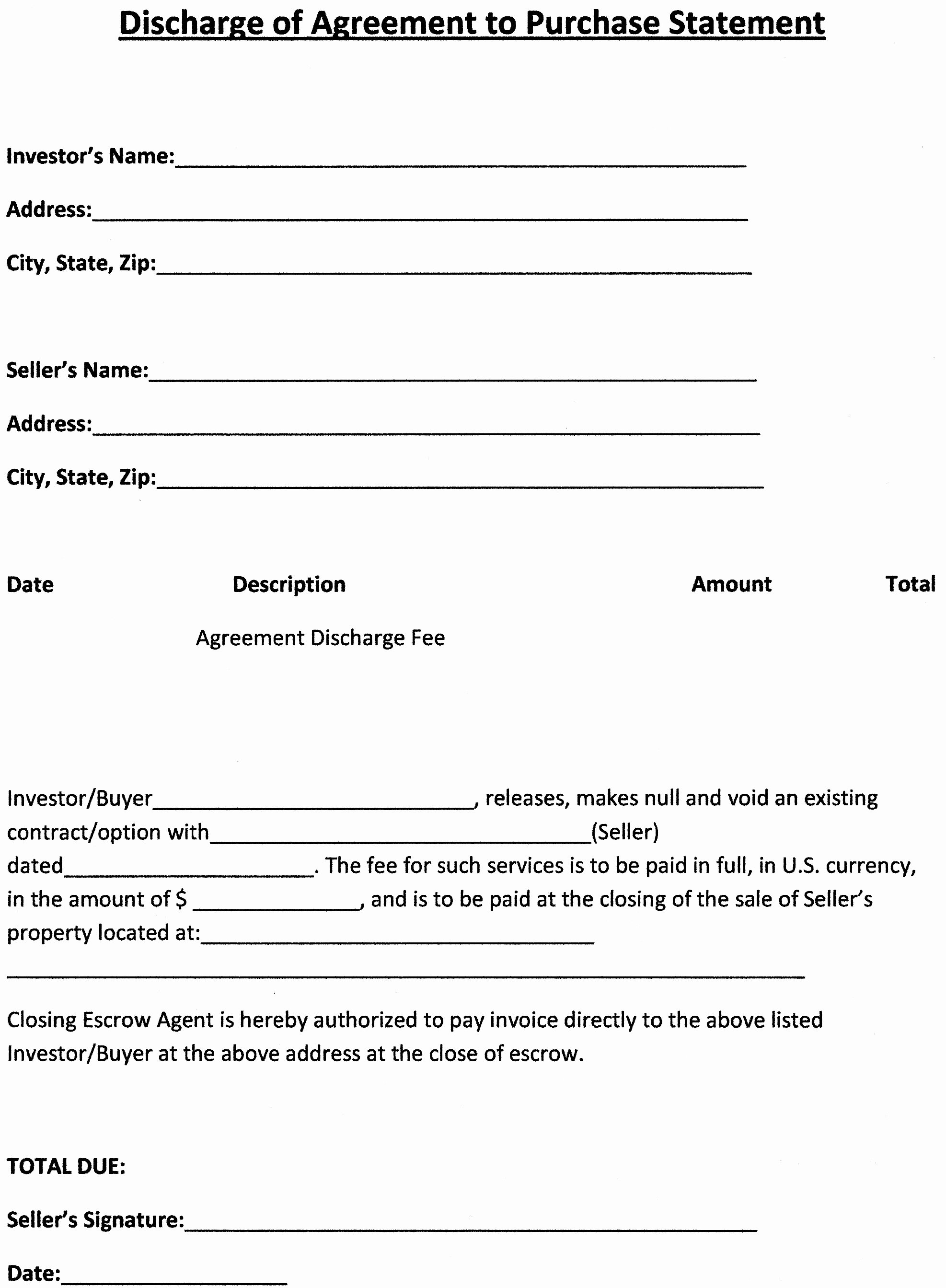 Home Buyout Agreement Template Beautiful Real Estate Purchase Agreement Template Free Printable