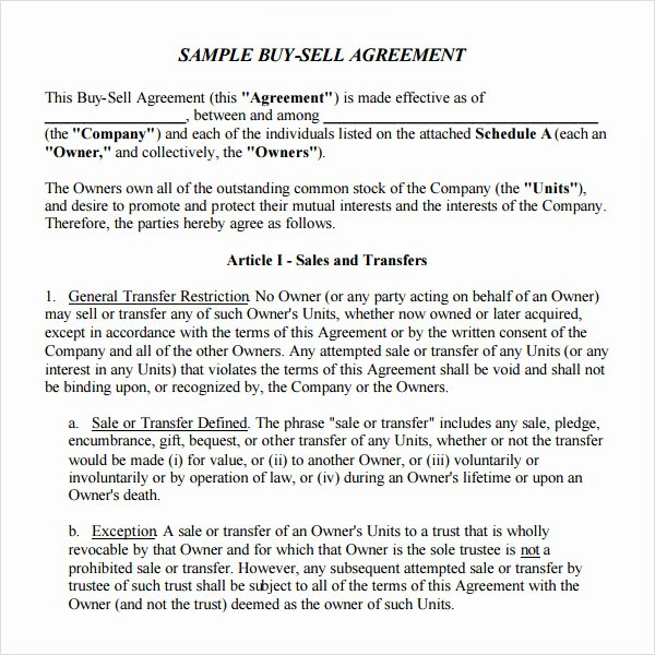 Home Buyout Agreement Template Best Of 18 Sample Buy Sell Agreement Templates Word Pdf Pages