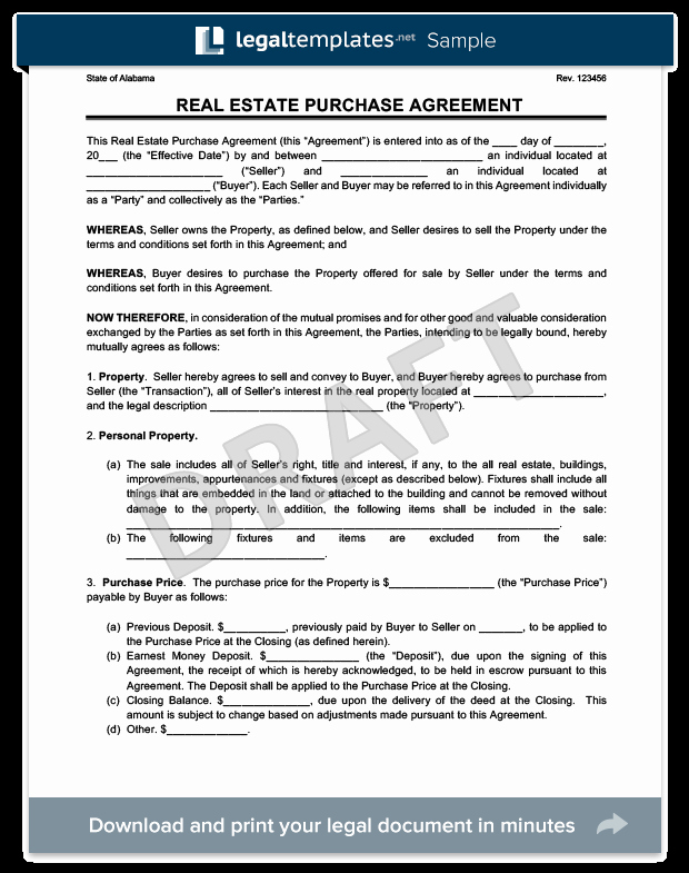 Home Buyout Agreement Template Fresh Real Estate Purchase Agreement