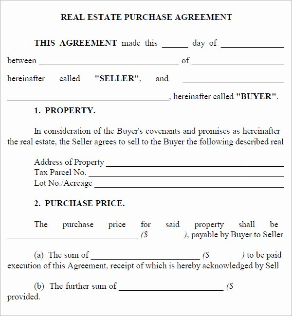 Home Buyout Agreement Template Lovely Real Estate Purchase Agreement 7 Free Pdf Download