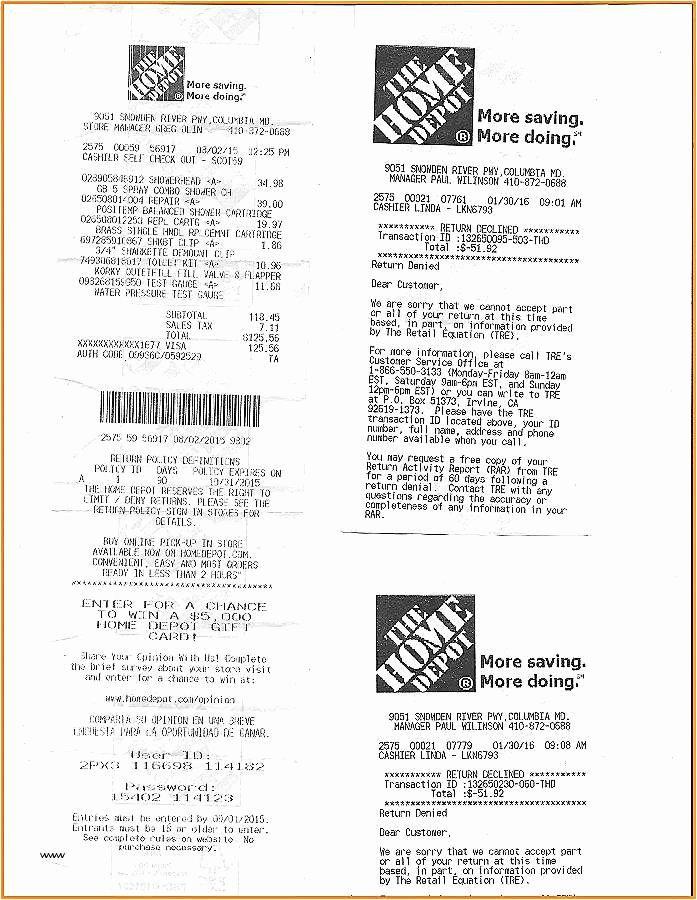 Home Depot Receipt Template Elegant 25 Free Home Depot Receipt Free