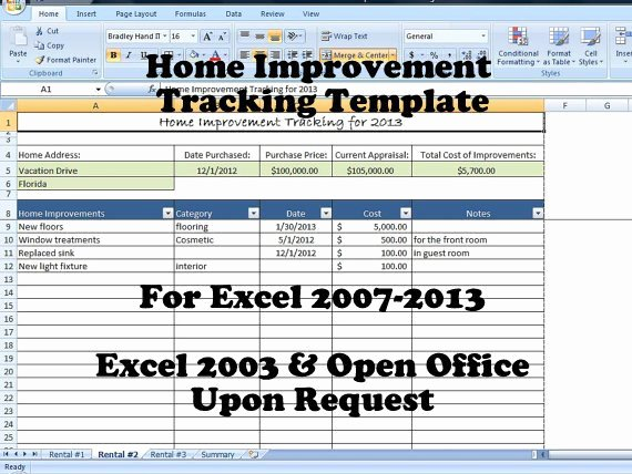 Home Remodeling Project Plan Template Inspirational Home Improvement Tracking Template In Excel Spreadsheet
