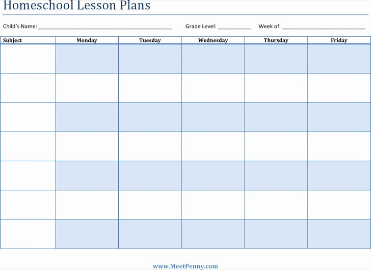 Homeschool Lesson Plan Template Excel Lovely 8 Printable Lesson Plan Templates Free Download