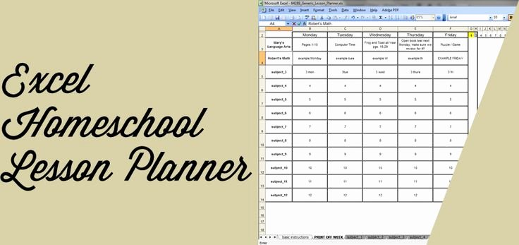 Homeschool Lesson Plan Template Excel Unique Excel assignments for Beginners
