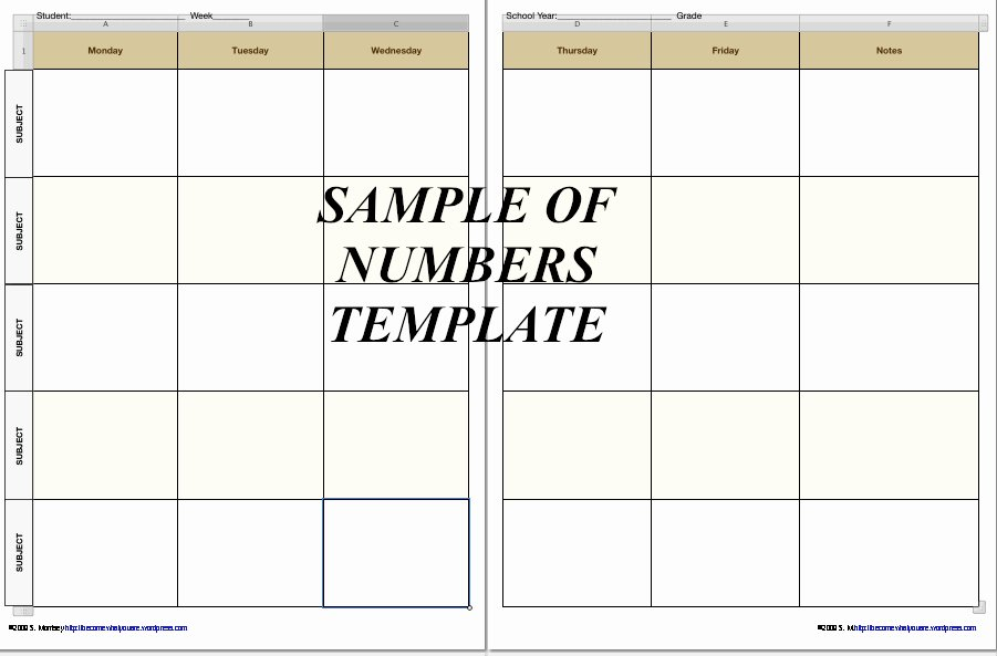 Homeschool Lesson Plan Template Excel Unique Free Homeschool Planner Pages In Iwork 09 formats now