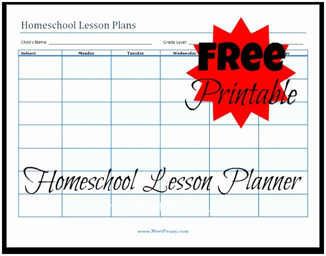 Homeschool Lesson Plan Template Fresh 10 Weekly Lesson Plan Templates for Elementary Teachers